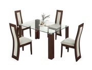 Malabo Modern Glass Dining Table
