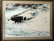 Bordie Collie in Snow Acrylic Original