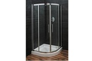 Swirl Quadrant Corner Chrome Shower Enclosure & Shower Tray